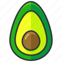 avocado, food, fruit, health, organic icon