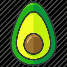 avocado, food, fruit, health, organic icon