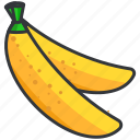 bananas, food, fruit, health, organic icon