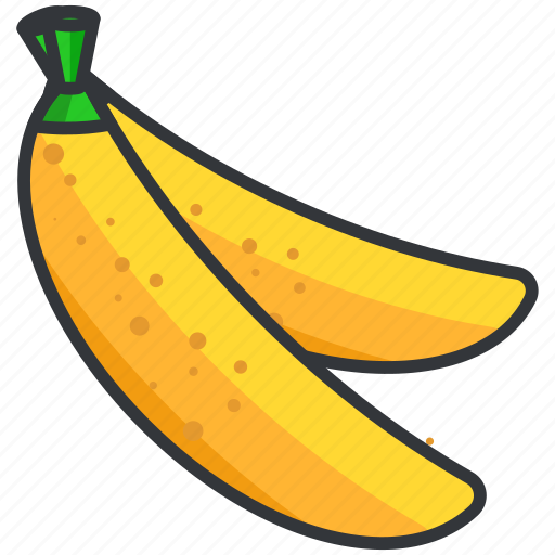 bananas, food, fruit, health, organic icon