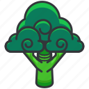 brocolli, food, health, organic, vegetable icon