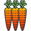 carrots, food, health, organic, vegetable icon