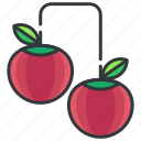 cherries, cherry, fruit, good, health, organic icon