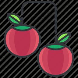 cherries, cherry, fruit, good, health, organic icon