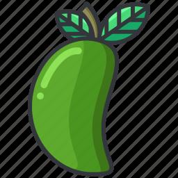 food, fruit, health, mango, organic icon