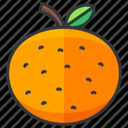 food, fruit, health, orange, organic icon