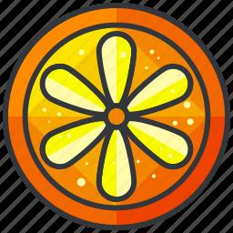food, fruit, health, orange, organic, slice icon