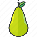 food, fruit, health, organic, pear icon
