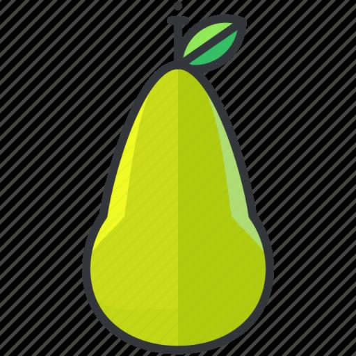 food, fruit, health, organic, pear icon