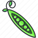 food, health, organic, peas, vegetable icon
