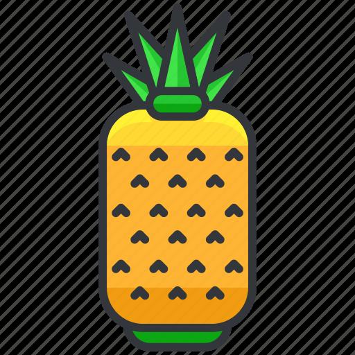 ananas, food, fruit, health, organic, pineapple icon