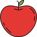 apple, food, fruit, healthy, vitamins icon
