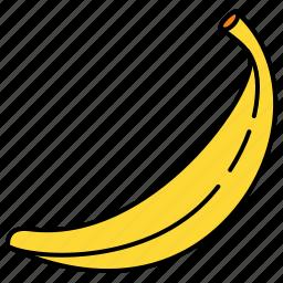 banana, food, fruit, healthy, vitamins icon