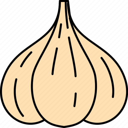 garlic, pizza, salsa, topping, vegetable icon