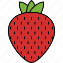 desert, food, fruit, healthy, strawberry icon