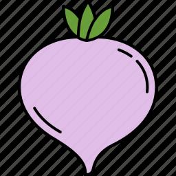 food, healthy, turnip, vegetable icon