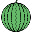 food, healthy, melon, vegetable, water icon