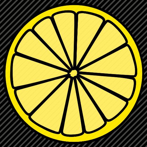 food, fruit, healthy, lemon icon