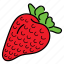 berry, color, food, fruit, healthy, red, strawberry icon