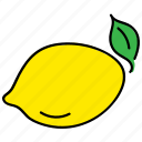 citron, color, food, healthy, lemon, yellow icon