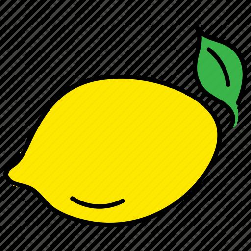 citron, color, food, healthy, lemon, yellow icon