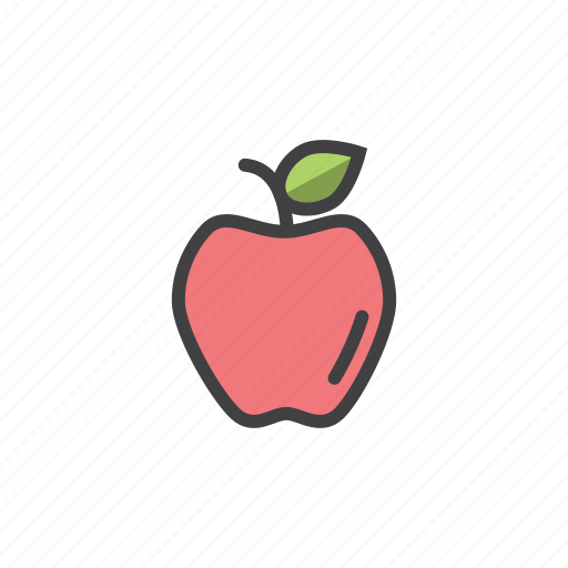 apple, gala, health, red icon