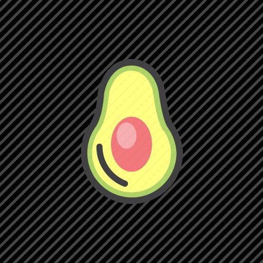 avocado, exotic, fruit, green icon