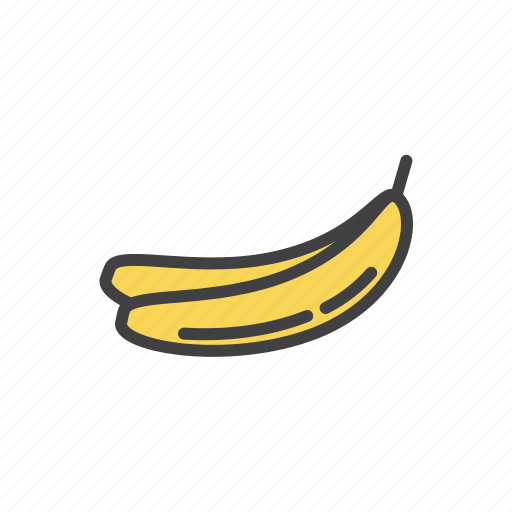 bannana, tropic, yellow icon
