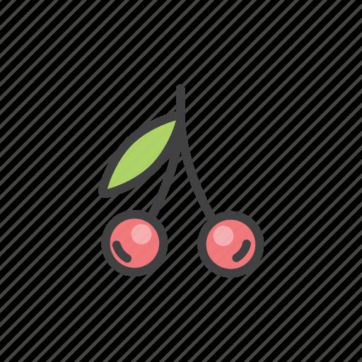 cherry, fruit, summer, vitamins icon