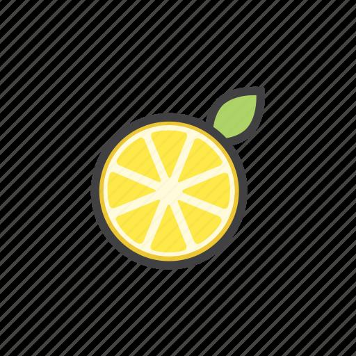 fruit, juce, lemon, vitamins icon