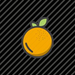 fruit, orange, summer, vitamins icon
