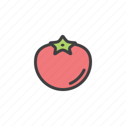 health, red, tomato, vegetable icon
