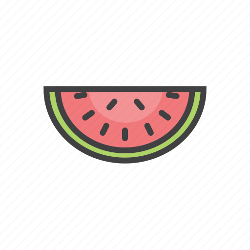 cool, fresh, fruit, summer, watermelone icon