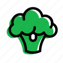 broccoli, eat, food, vegetable icon