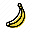 banana, eat, food, fruit, vegetable icon