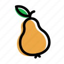 eat, food, fruit, pear, vegetable icon
