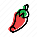 eat, food, fruit, pepper, vegetable icon