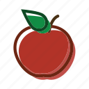 apple, food, meal, plant icon