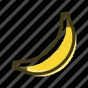 banana, food, meal, plant icon