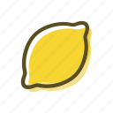food, lemon, meal, plant, sour icon
