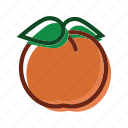 apricot, food, meal, peach, plant icon