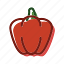 food, meal, pepper, plant icon