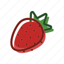 food, meal, plant, strawberry icon