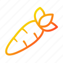 carrot, diet, nutrition, vegetables icon