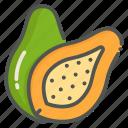 papaya, fruit, tropical, organic