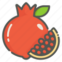 pomegranate, punica granatum, fruit, tropical
