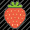 strawberry, fruit, organic, vegan