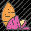 sweet potato, sweet, root, organic
