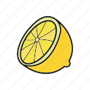 citrus, fruit, lemon, lime, orange, tropical icon