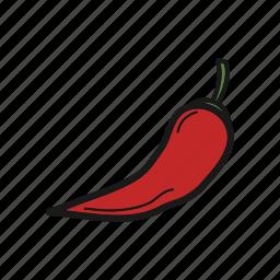 chilli, pepper, vegetable icon